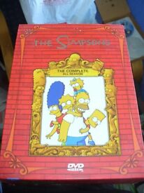 The simpsons dvd collection