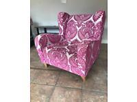 Pink flockchair