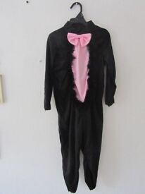 Fancy dress,halloween cat costume with headband with ears on.£3