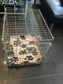 Small dog crate with base cover