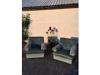 2 x FREE large green armchairs