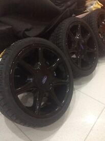 """Cosworth Wheels, RS 7 Spokes, 7.5J x 17"""" inch softlines, set of 4 with new tyres, 205/40R17, show ST"""