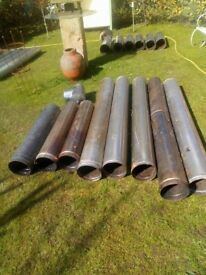 "Used 8"" diameter rigid 316 stainless steel chimney liner"