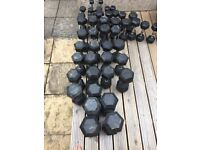 York Rubber Dumbbell Set - Open to individual offers