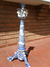 CHINESE BLUE / WHITE ORNAMENT /CANDLE HOLDER