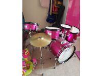 Pink Jasmin Drum Kit