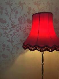 Pink & Gold Floor Lamp
