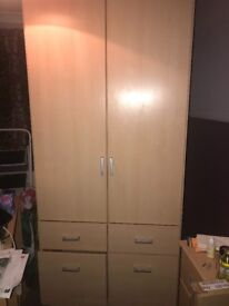 Fully functional wardrobe and drawers