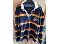 👦HOWICK striped rugby shirt size Large👦