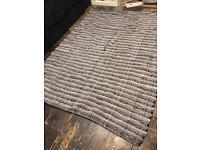 John Lewis Black and White rug
