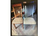 8 WOODEN DINING CHAIRS ! A project!!