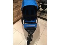 Out n About V4 single pushchair - lagoon Blue