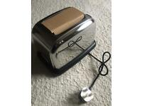 New & Boxed Cookworks Signature 2 Slice Stainless Steel Toaster