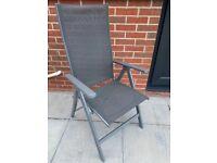 Multi Position Recliner Garden Chair x2