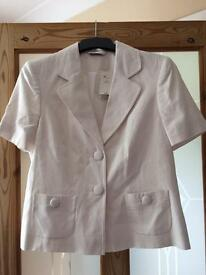 White Linen jacket size 12 BNWT