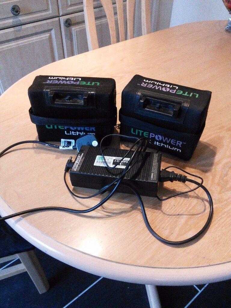 Litepower Lithium electric golf trolley battery