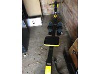 Body sculpture rowing machine/gym
