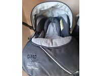 Silver cross buggy and car seat travel set