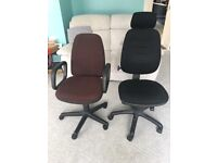 Office Chairs with Adjustable and Swivel (Collection Only)