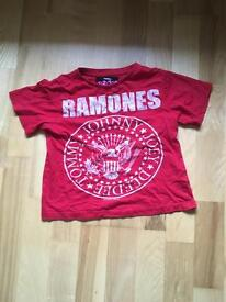 Ramones Red t shirt age 4-5