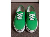 VANS trainers size UK 4 orange and green