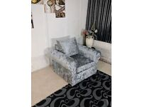 """ONLY £439! BRAND NEW WARM AND COSY GLP CRUSH VELVET UNIT/3+2 ON SPECIAL OFFER """"EXPRESS DELIVERY"""""""