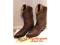 Beautiful Brown Leather Ladies Cowboy Style boots - Brand New - Size 5.5