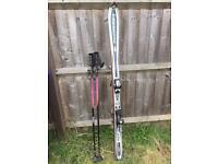 Rosignol 160 cm skis bindings and poles