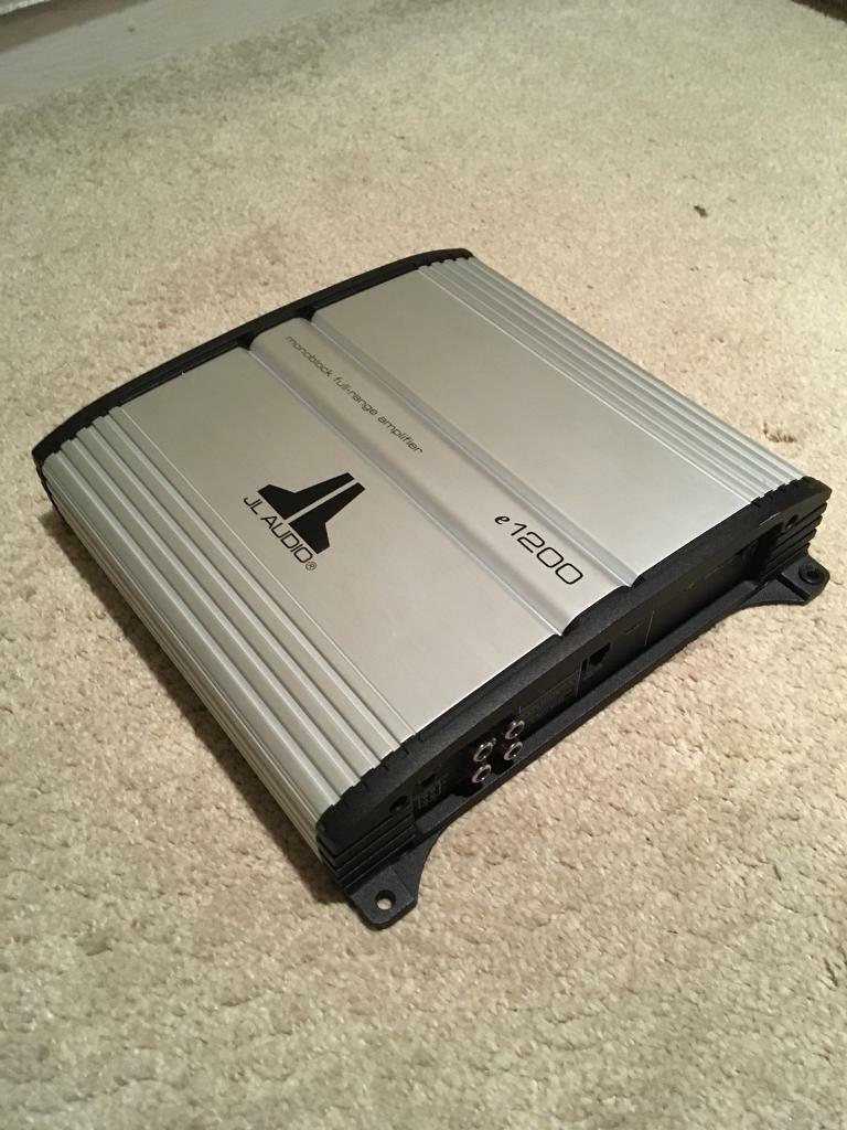 Jl Audio E1200 Mono Block Amplifier Great Condition Amp Working Amplifiers Perfectly
