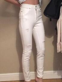 V by very ripped skinny jeans