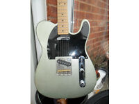 telecaster voyager by vester rare silver sparkle