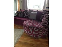Brown Corner Sofa - excellent condition smoke free house. Originally from DFS.