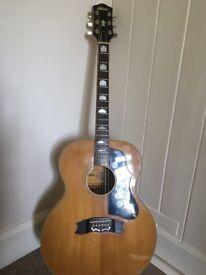 1970s Antoria Folk Guitar think Oasis Wonderwall Video