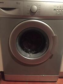 Beko washing machine silver