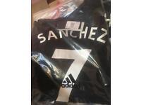 Manchester United Sanchez jerseys. Adidas 7