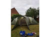Outwell hartford xl 8 man tent excellent condition. Includes extention,footprint and csrpet