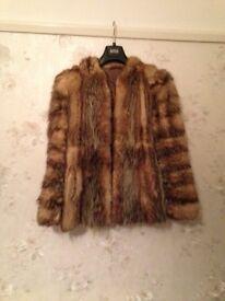 Ladies Genuine Fox Fur Jacket120.00.