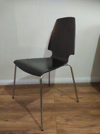 Exstremly comfy IKEA VILMAR wooden chair in black