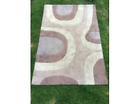 Brown and Cream Patterned Rug