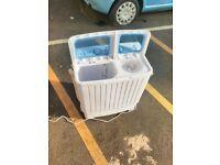 Costway Mini Twin Tub Washing Machine (5KG Washing + 3KG Drying) Portable Washer Spin Dryer 300W