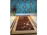 Brand New thick wool rugs brown size 240x160cm carpet wool thick rugs £85