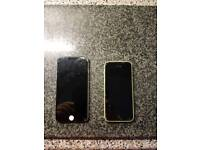 Iphone 5c and iphone 6 spares or repairs