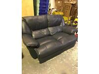Two seater & armchair ( leather )