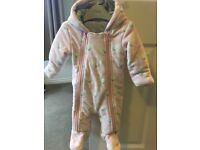 Baby girl M&S coat 3-6 months