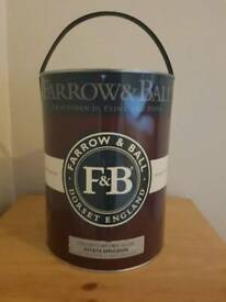 Farrow and ball 5 litre tins of paint new unopened