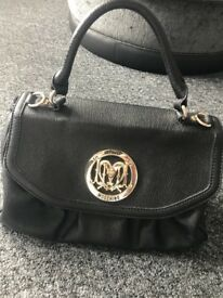 Black Love Moschino Ladies Handbag **barely used**