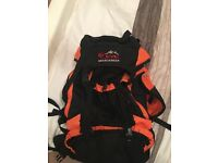 Eye mountaineer black and orange rucksack