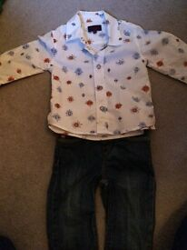 Genuine Paul smith jeans and shirt 6-9 months