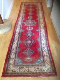 Floor Rug/ Runner - Hand made Wool 12ft long