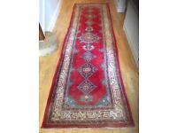 Floor Rug/ Runner - Hand made Wool 12ft long